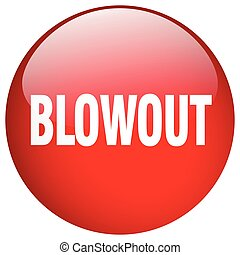 blowout red round gel isolated push button