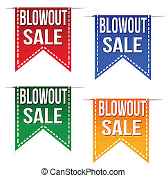Blowout sale ribbons