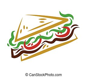 BLT (bacon, lettuce, tomato) sandwich illustration