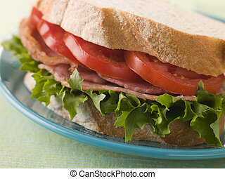 BLT on white bread