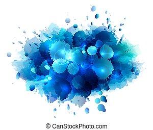 blu, 抽象的, 芸術的, 背景
