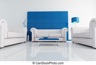 blu, 暮らし, 白, 現代部屋