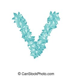 blu, 10, diamante, set, alfabeto, illustrazione, colorare, vettore, isolato, cristallo, concetto, disegno, virtuale, lettera, v, bianco, eps, gemstone, fondo, 3d