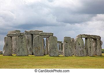 blu,  3,  000bc,  Stonehenge, erba, Inghilterra, origini, cielo, sotto, luogo,  Unesco, storico, verde, eredità, mondo, valutato