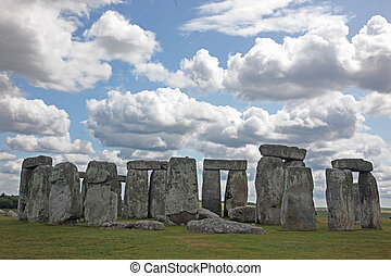 blu, 3, stonehenge, erba, inghilterra, origini, sky., sotto, luogo, unesco, storico, verde, eredità, mondo, valutato