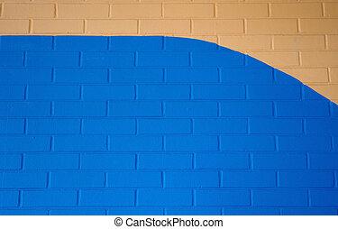 blu, abbronzatura, mattone