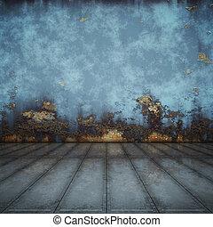blu, acciaio, pavimento