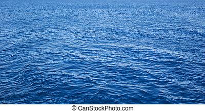 blu, acqua mare, in, calma