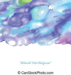 blu, acquarello, astratto, fondo