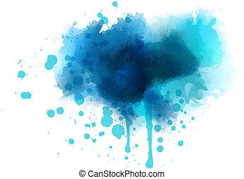 blu, acquarello, schizzo