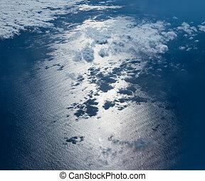 blu, acque, vista aerea