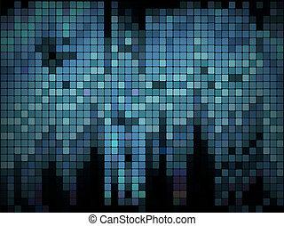 blu, affari, -, vettore, disegno, geometrico, ripetere