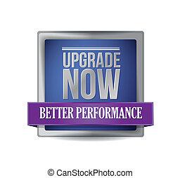 blu, aggiornamento, ora, scudo, illustrazione
