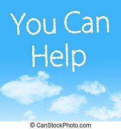 blu, aiuto, cielo, disegno, lattina, fondo, lei, nuvola, icona
