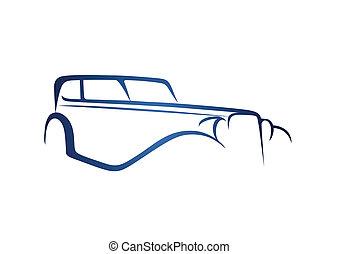 blu, anticaglia, logotipo