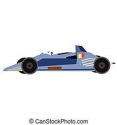 blu, appartamento, automobile, illustrazione, bianco, sport