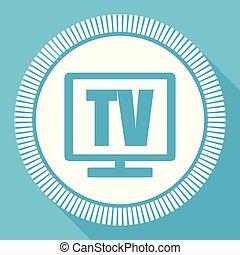 blu, appartamento, smartphone, quadrato, fotoricettore tv, editable, eps, vettore, bottone, domanda, icona computer, segno, 10