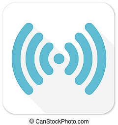 blu, appartamento, wifi, icona