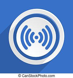 blu, appartamento, wifi, moderno, disegno, icona