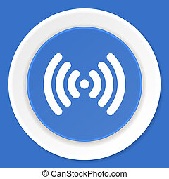 blu, appartamento, wifi, web, moderno, disegno, icona