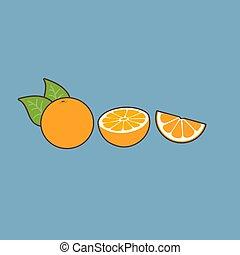 blu, arance, fondo