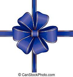 blu, arco regalo, con, nastro