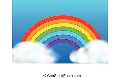blu, arcobaleno, fondo