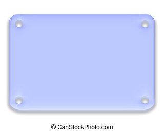 blu, arrotondato, rettangolo