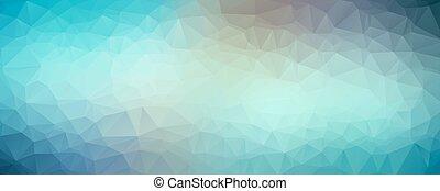 blu, astratto, baner, polygonal, fondo, vettore
