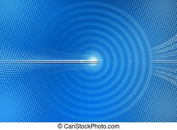blu, astratto, codice binario, fondo