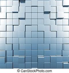 blu, astratto, cubi
