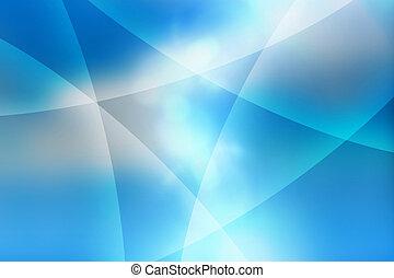 blu, astratto, curve, fondo