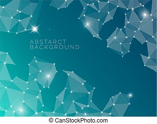 blu, astratto, fatto, triangoli, fondo