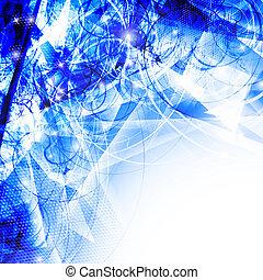 blu, astratto, fondo, onde