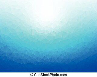 blu, astratto, geometrico, fondo