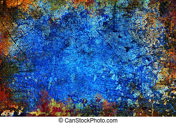 blu, astratto, grunge, fondo, struttura