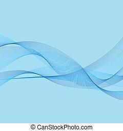 blu, astratto, linee, vector., onda