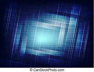 blu, astratto, numeri, fondo
