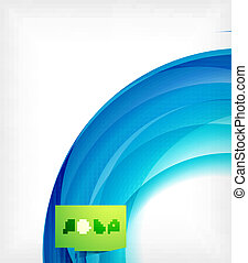 blu, astratto, onda, disegno, sagoma, turbine