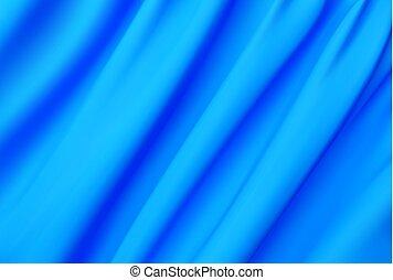blu, astratto, seta, vettore, struttura