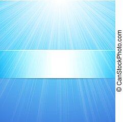 blu, astratto, sole, fondo