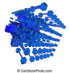 blu, astratto, struttura