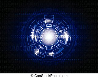 blu, astratto, tecnologia, fondo, digitale