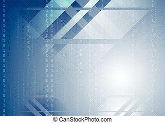 blu, astratto, tecnologia, fondo
