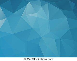 blu, astratto, triangolare, fondo