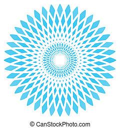 blu, astratto, vettore, cerchio, fiore