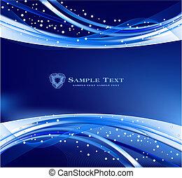 blu, astratto, vettore, fondo