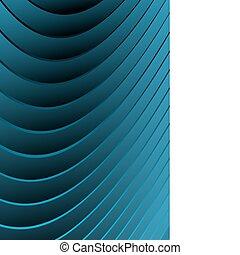 blu, astratto, vettore, onde