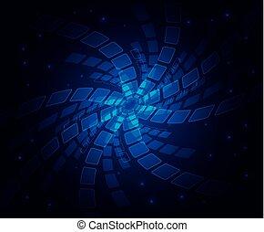 blu, astratto, vettore, stelle, fondo