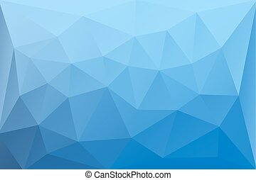 blu, astratto, vettore, triangoli, fondo